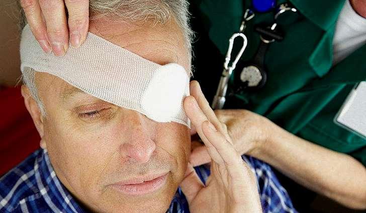 Травма левого глаза