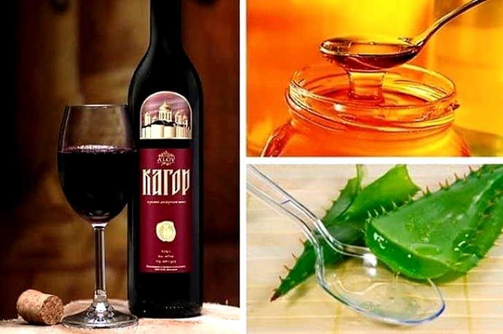 Рецепт с алоэ, медом и кагором от болезней суставов