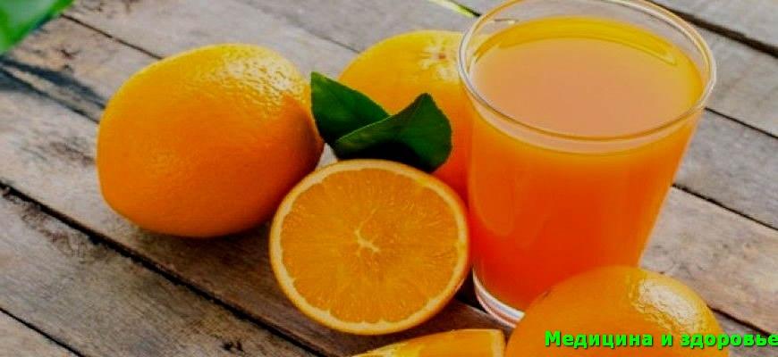 апельсиновый сок для сужения пор