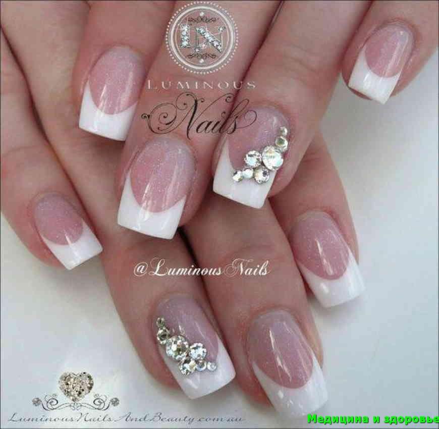 Белые французские ногти