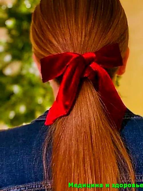 бархатные бантики для волос