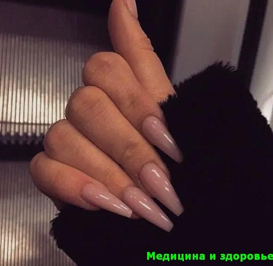 Ногти балерины