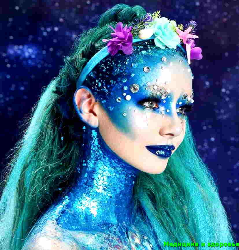 Осенние коллекции макияжа 2021 - русалка