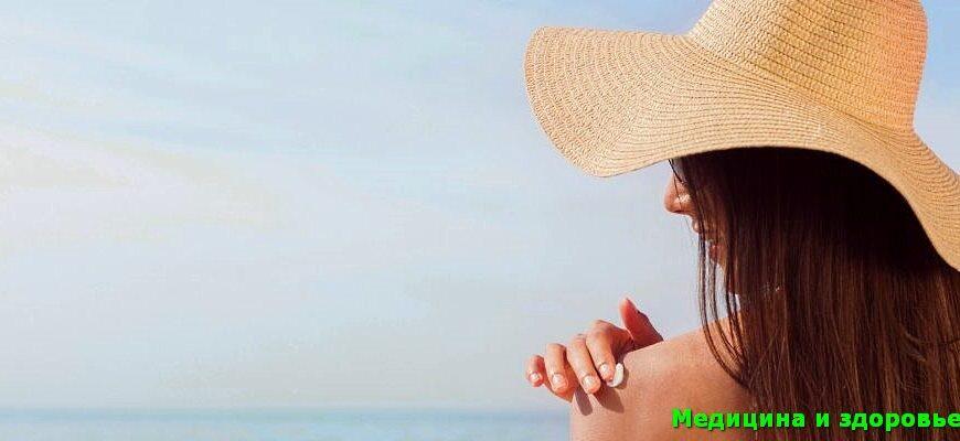 Первая помощь при солнечном ожоге кожи