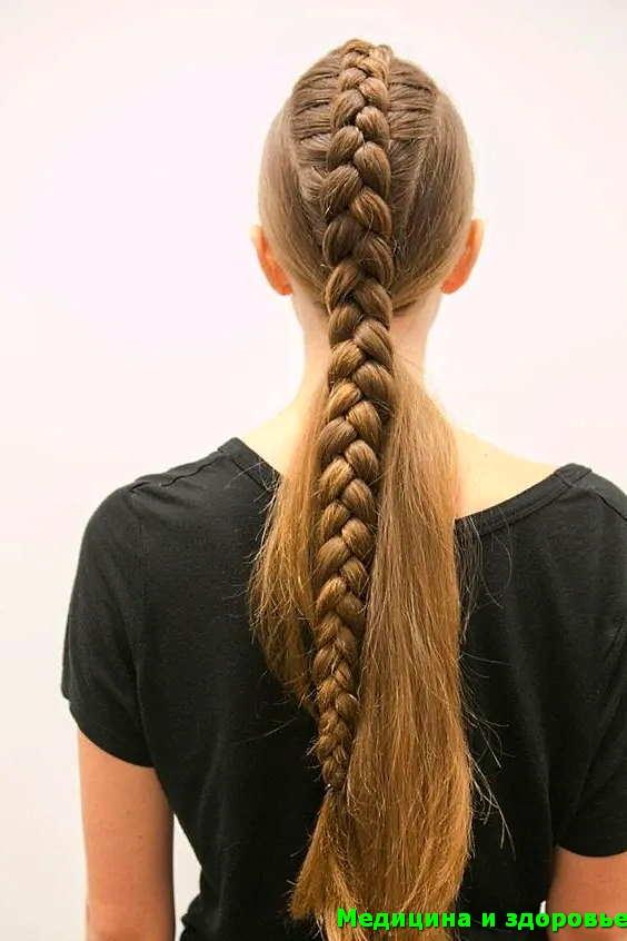 Праздничная прическа - плетение волос