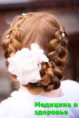 Праздничная прическа плетеный венок из волос