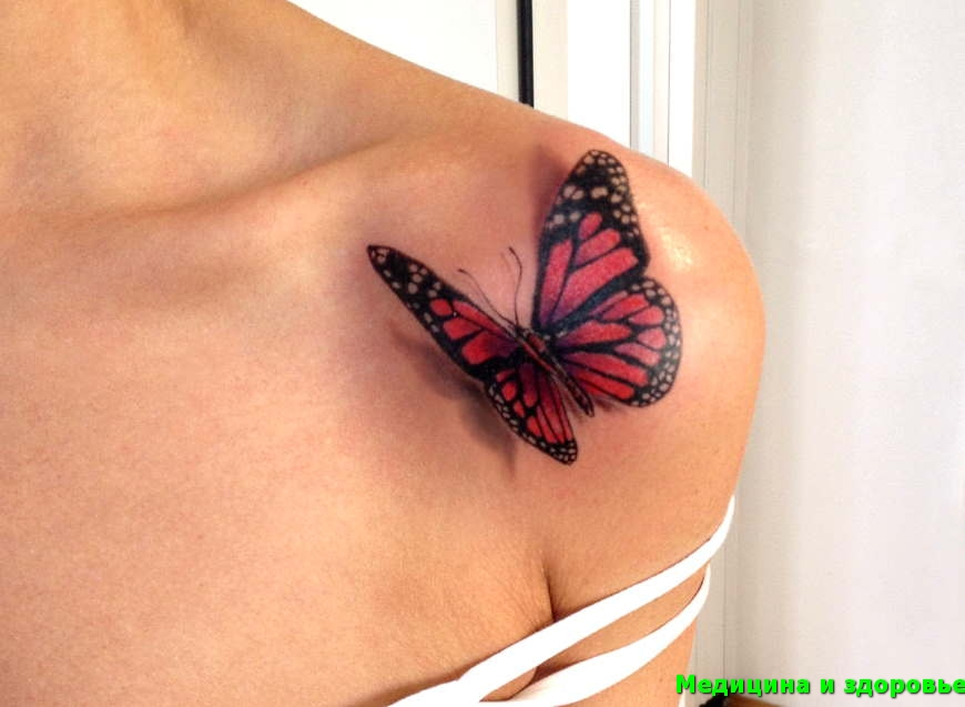 Бабочка тату
