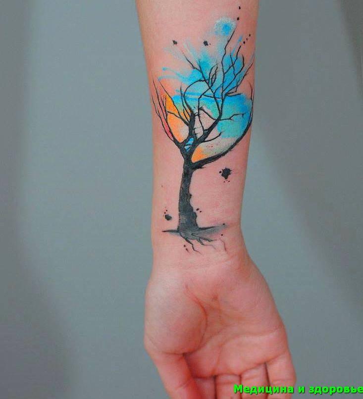 Тату дерево