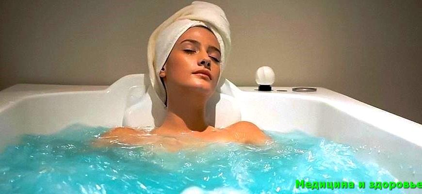 Успокаивающая ванна после ожога кожи на спине